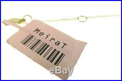 MEIRA T Brushed Gold & Diamond Double Layered Spear Pendant-Brand New on SALE
