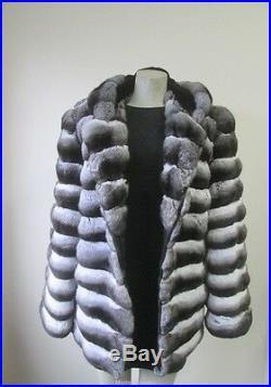 Men's Sz 42 Brand New CHINCHILLA Fur Jacket Coat Hood CLEARANCE SALE