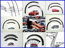 Mercedes ML W163 Radlauf Zierleisten Schwarz Tuning satz 4 Stück Bj 97-05 SaLe