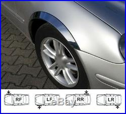 Mercedes W211 wheel arch trims CHROME brand new set 4 pcs. L&R 2002-2009 SaLe