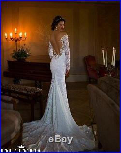 Mermaid Wedding Dress Lace Long Sleeve Sheer, Reg $349.00 Sale $259.00