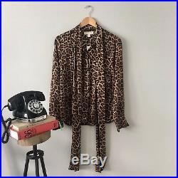 Michael Kors Leopard Print Blouse BRAND NEW w tags SALE! (Orig. $145)