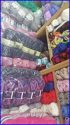 Mixed lot of knitting / crochet wool 100 balls yarn 100g clearance sale all dk
