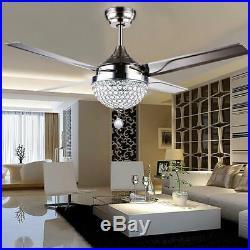 Modern Ceiling Fan Lamp Remote Control Chandeliers Pendent Lamp SaleBest Deal