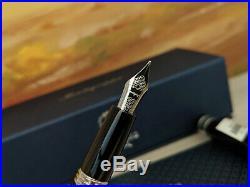 Montegrappa UEFA Champions League UCL Trophy Black F Fountain Pen, SALE 45% OFF