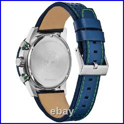 NEW Citizen Men's Eco-Drive Primo Blue Dial Leather Strap Watch CA4438-00L SALE