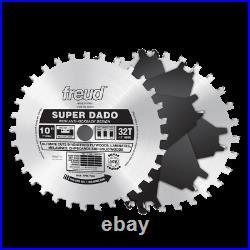 NEW Freud SD510 10 32 TEETH Super Dado BLADE Set WITH CARRY CASE SALE