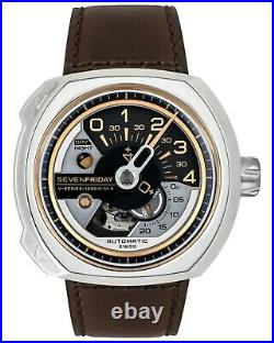 NEW Men's SevenFriday Stainless Automatic Watch V2/01 MSRP $1150 SALE! NIB