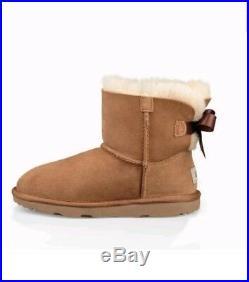 NEW Ugg BOOTS WOMENS Mini Bailey Bow II Chestnut 100% GENUINE SALE SIZE 6.5 7.5