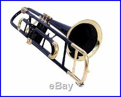 NEW YEAR SALE Brand New BLACK Brass Bb Valve Trumbone Free Hard case Mouthpiece