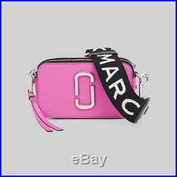 NWT Genuine Marc Jacobs Snapshot Small Camera Bag Crossbody bright pink sales