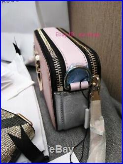 NWT Marc Jacobs Snapshot Small Camera Bag Crossbody pink silver sales