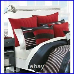 Nautica Mineola Reversible Queen Comforter Set BRAND NEW, ON SALE, BLUE/RED