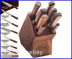 New Case XX USA Made 9 Piece Kitchen Cutlery Knife Set & Block #10249 Sale