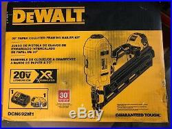 New Dewalt Dcn692m1 20 Volt Max Cordless Dual Speed Framing Nailer Tool Kit Sale