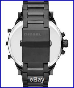 New Diesel Dz7312 Mr Daddy 2.0 Mens Watch Black / Rose Gold Chrono Sale Xmas