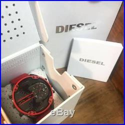 New Diesel Dz7370 Mr Daddy 2.0 Mens Watch Red Chronograph 4 Time Zone Sale