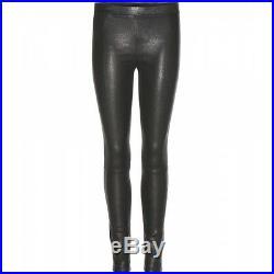New Genuine Lambskin Leather Skinny Pants Leggings Mid Rise Unlined Women Sale