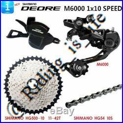 New SHIMANO Deore M6000 1x10 Speed MTB Groupset 4 PCS 42T SALES