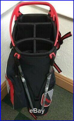 OUUL 9 Under Stand Bag Super-Lite Red/Black/White Brand New 60% Off Sale