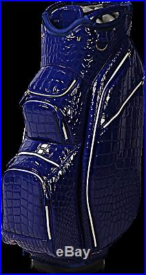 OUUL Alligator Cart Bag 15 way Divider Top in Blue Brand New 65% Off Sale