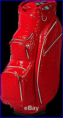 OUUL Alligator Cart Bag 15 way Divider Top in Red Brand New 65% Off Sale
