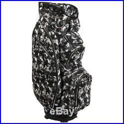 OUUL Camo Trendy Cart Bag 15 way Divider Top Black/Silver Camo Brand New Sale