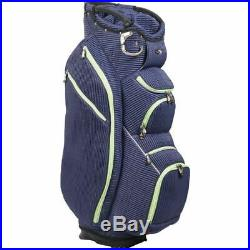 OUUL Ribbed Cart Bag 15 way Divider Top in Navy Blue Brand New 65% Off Sale