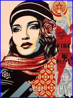 Obey Fire Sale Screen Printed Poster by Shepard Fairey x/550 Brand New