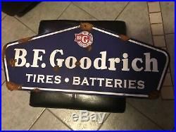 Old style-barn find look BF Goodrich dealer tire sale and service large sign