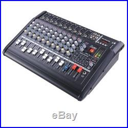 PRE-SALES 10 Channel Professional Powered Mixer Power Amplifier Amp 16DSP 48V