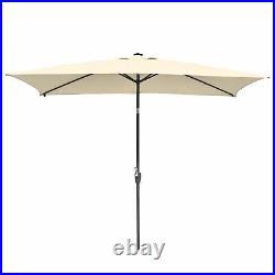 PRE-SALES 10'x6.5' Patio Outdoor Aluminum Umbrella Solar LED Light Crank Tilt