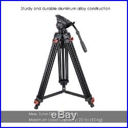 PRE-SALES 71 Pro Camera Tripod for DV DSLR Video Stand Fluid Pan Head With Bag