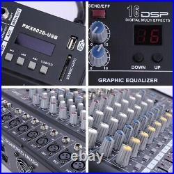 PRE-SALES 8 Channel Powered Mixer Power Mixing Amplifier WithUSB Slot Amp 16DSP