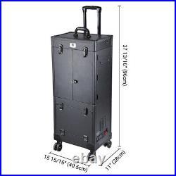 PRE-SALES Byootique Black Rolling Makeup Case Artist Storage Stylist Trolley