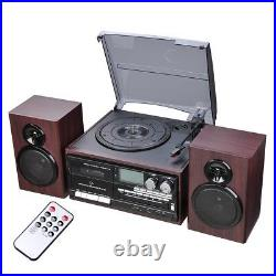 PRE-SALES Wireless Stereo Record Player System with Speakers Turntable AM/FM CD