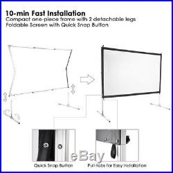 PRE-SALE 120 Portable Fast Folding Projector Screen 169 HD with Stand for Indoor