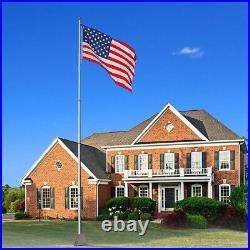 PRE SALE 25ft Flag Pole Aluminum Telescopic Flagpole Kit US Flag Ball Fly 2 Flag
