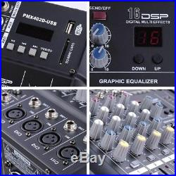 PRE-SALE 4 Channel Pro Powered Mixer Power Mixing Amplifier WithUSB Slot Amp 16DSP