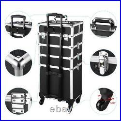 PRE-SALE 4 in1 Rolling Makeup Train Case Organizer Cosmetic Salon Trolley