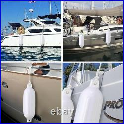 PRE SALE 4pcs Marine 8x27 Boat Fender Bumper Dock Shield Protection Pump White