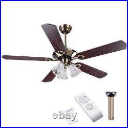 PRE SALE 52 Ceiling Fan Light Kit Remote Reversible Restaurant Cafe Chandelier