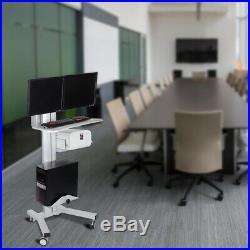 PRE-SALE Desktop PC Mobile Cart Wheel Computer Monitor Stand Office Workstation