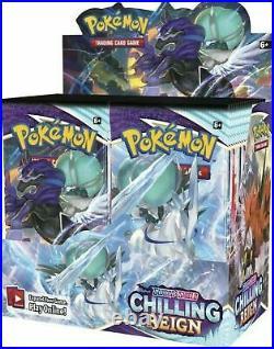 Pokemon Sword & Shield Chilling Reign Booster Box 36 Pack Pre-Sale Ships 6/18