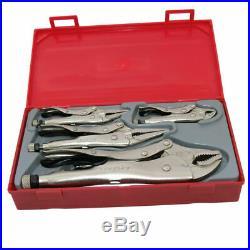 Q3 Sale! Teng Tools 5 Piece Power Grip Long Nose Pliers Tool Kit + Case