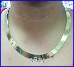 REAL 10k Solid Yellow Gold Herringbone Necklace Chain 10mm Thick 18inch, SALE! N