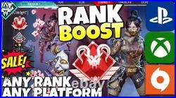 Ranked BOOST! SALE! ANY RANK Apex Legends PS4/XBOX/PC Predator/Master rank