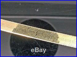 Real 10k Gold 20 Inch 7mm Herringbone Necklace chain, Men/Women, Christmas sale N