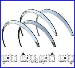 SAAB 9-3 Wheel Arch Trims 02-11 Brand New Front & Rear Set 4 pcs CHROME on SaLe