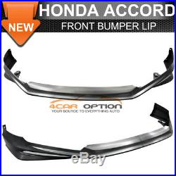 SALES Fit 13-15 Accord 4Dr MD Front + Rear Bumper Lip + Side Skirts Unpainted PP
